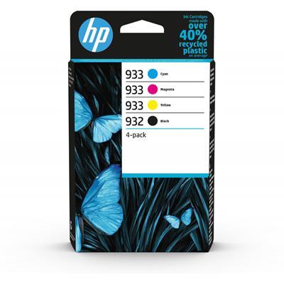 Εικόνα της Πακέτο 4 Μελανιών HP No 932 Black και 933 Cyan, Magenta, Yellow 6ZC71AE