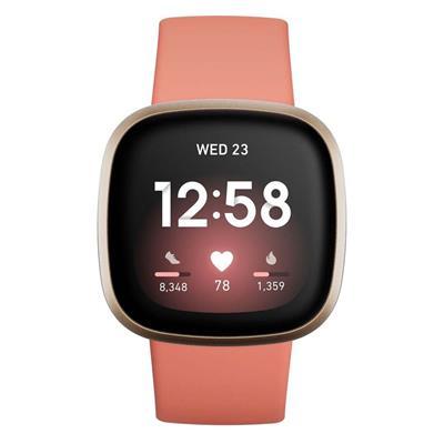 Εικόνα της Smartwatch FitBit Versa 3 Pink Clay/Soft Gold Aluminum FB511GLPK