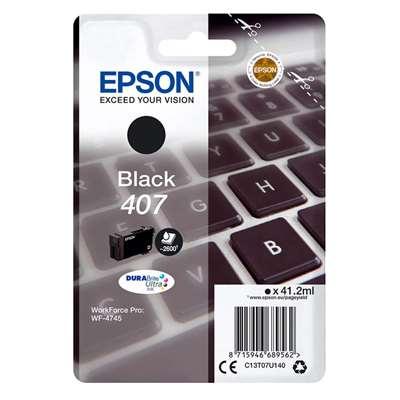 Εικόνα της Μελάνι Epson 407 Black C13T07U140