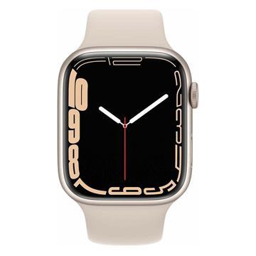 Εικόνα της Apple Watch Series 7 GPS 41mm Starlight Aluminium Case with Starlight Sport Band MKMY3GK/A